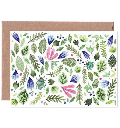 Klappkarte | Botanik