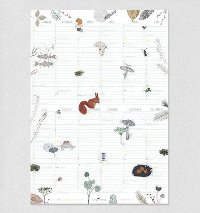Posterkalender 2021 | Wald & Wiese
