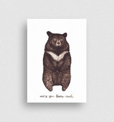 Postkarte | Kragenbär