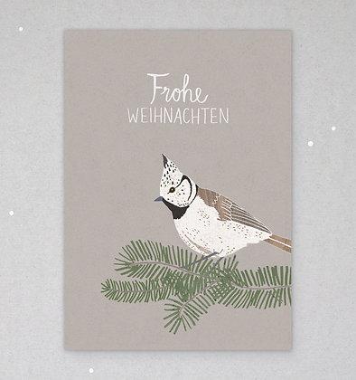 Postkarte | Haubenmeise