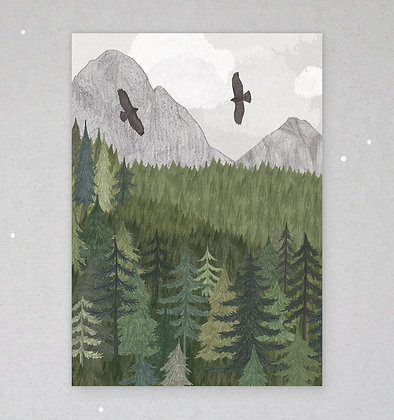 Postkarte | Bussardflug