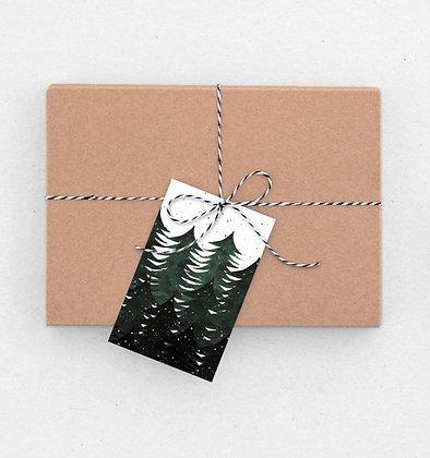 Geschenkanhänger Set | Wald