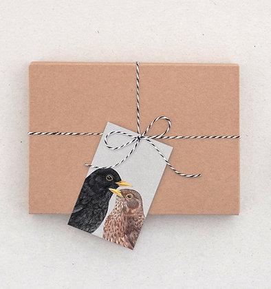 Geschenkanhänger Set | Amselpaar