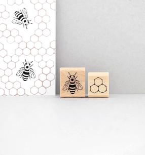 Insekten-Stempelset-Honigbiene-mit-Wabe-margamarina.jpg