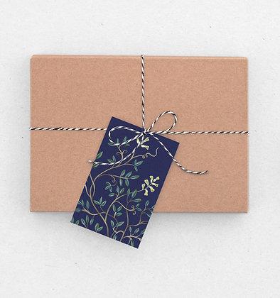 Geschenkanhänger Set   Zarte Flora - Corydalis