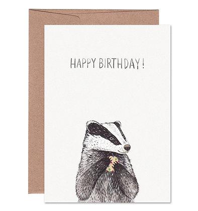 Klappkarte | Dachs Birthday