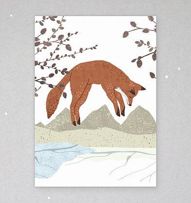 Postkarte | Fuchssprung