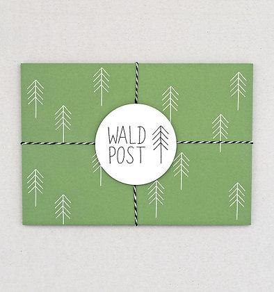 Briefumschlag Set | Wald Post | Grün