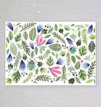 Postkarte | Botanik