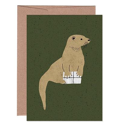 Klappkarte | Otter