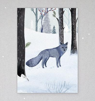 Postkarte | Winterwolf