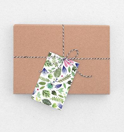Geschenkanhänger Set | Botanik