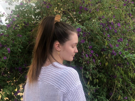 You can wear a ponytail with hand-tied extensions!