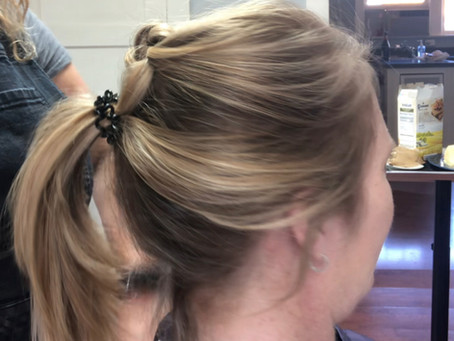Work at home ponytail...but not looking like you are going to the gym.