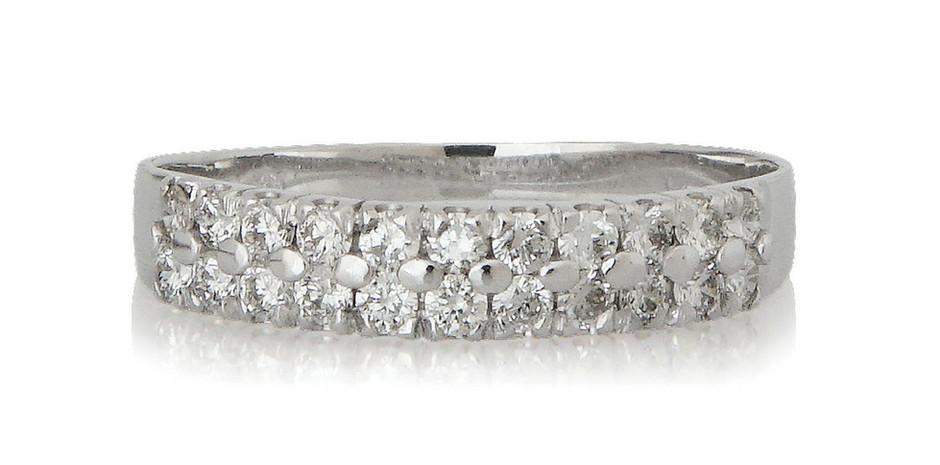 Alliance or gris 18kt et diamants