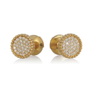 Boucles d'oreilles or jaune 18kt et diamants