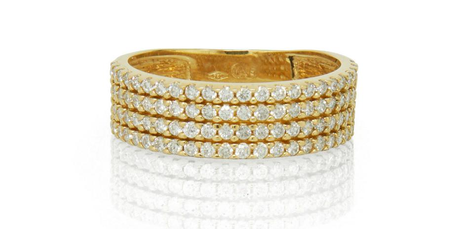 Alliance or jaune 18kt et diamants - 343 800 xpf