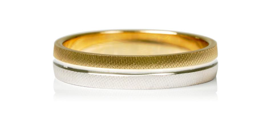 Alliance 2 ors (jaune/gris) 9kt - 38 500 xpf