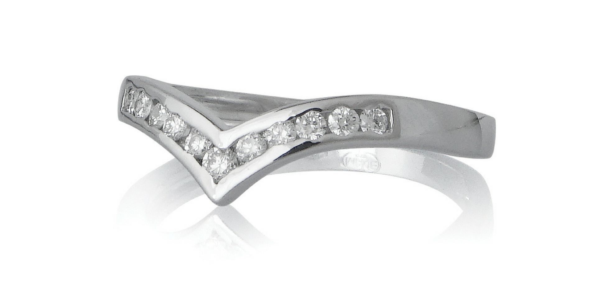 Alliances or gris 18kt et diamants