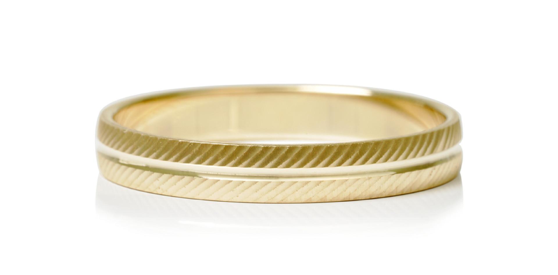 Alliance en or jaune 9kt