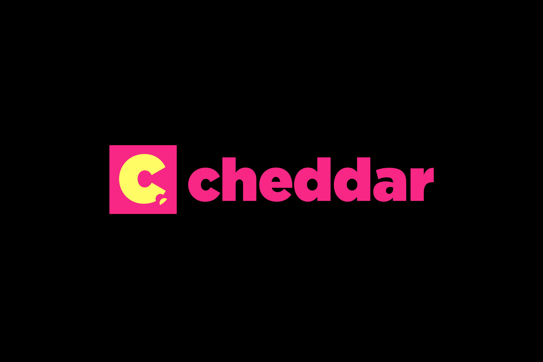 cheddar landing page logos blk
