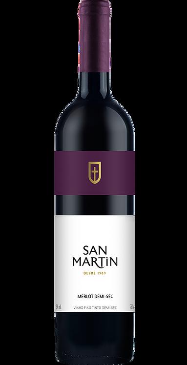 Vinho Merlot Demi-Sec San Martin