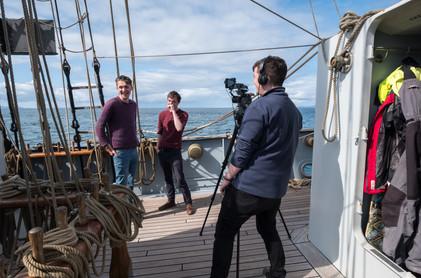 Filming Aboard the Wylde Swan Air Iomall