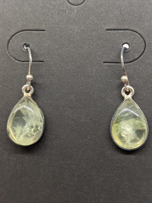 Prehnite & Silver Earrings