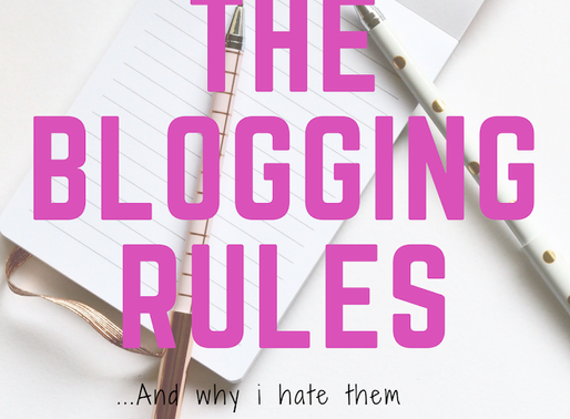 The Blogging Rules and Why I Hate Them