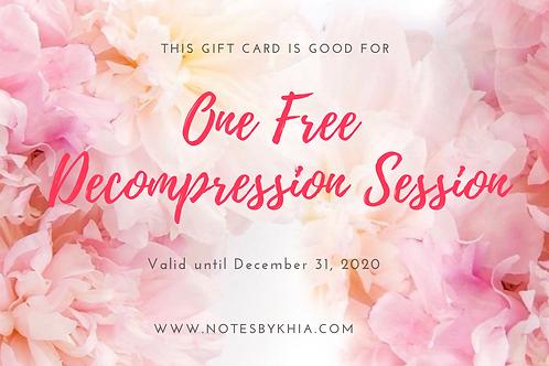 Decompression Session E-Gift Certificate