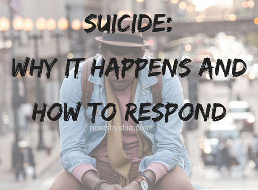Suicide: Why it happens and how to respond