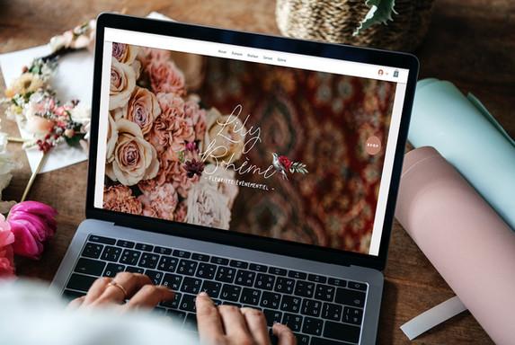 Erstellung einer Website für einen Blumenboutique