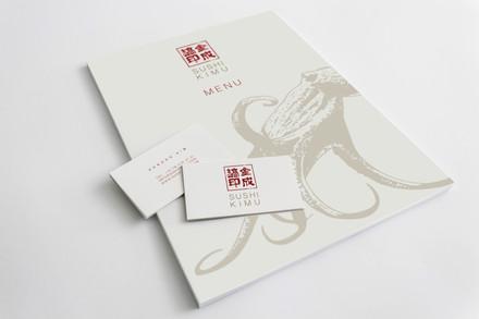 Sushi Kimu - Menukarte und Visitenkarten