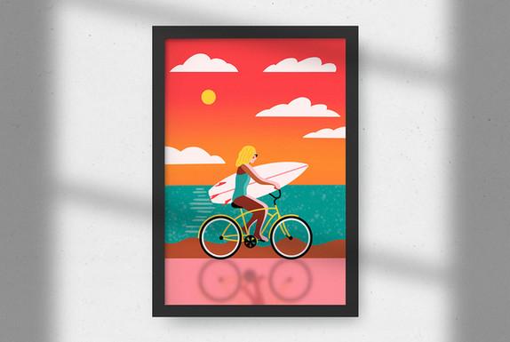 Design von eine Plakat - Privat