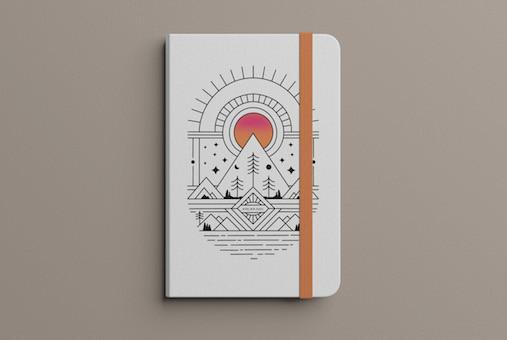 Design eine Notizblock - Privat