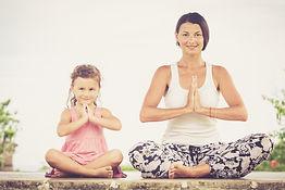 Yoga. Young woman doing yoga exercise ou