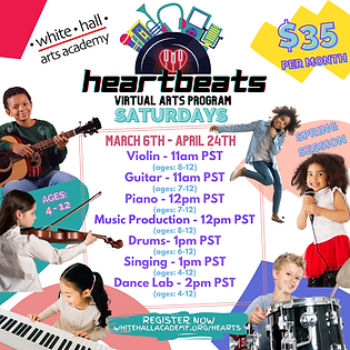 New Heartbeats Spring 2021 Flyer with da