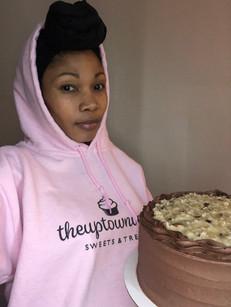 Owner in logo hoodie