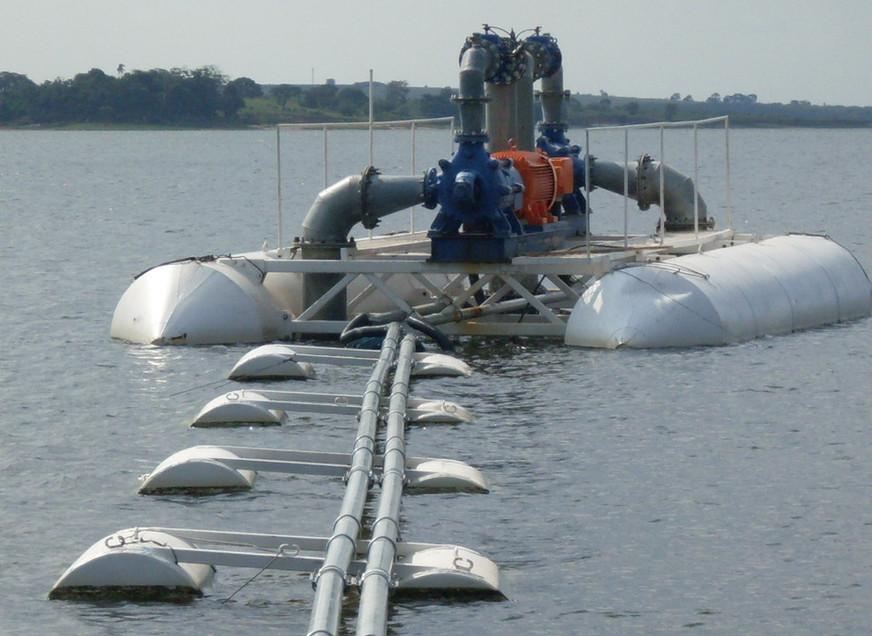 Instalação de captação flutuante.JPG