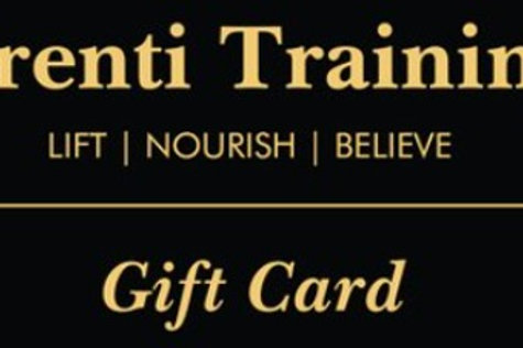 copy of Trenti Training $100.00 Gift Card