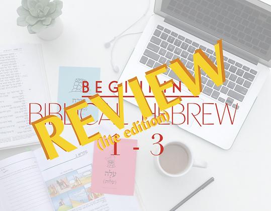 (LITE) BBH 1-3 Review