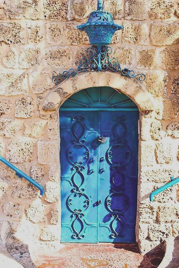 blue door, Jerusalem