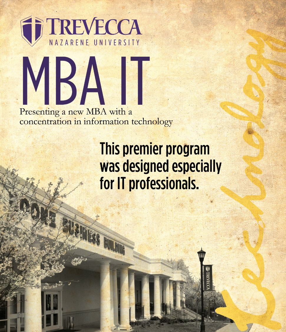 Trevecca graphic design print piece