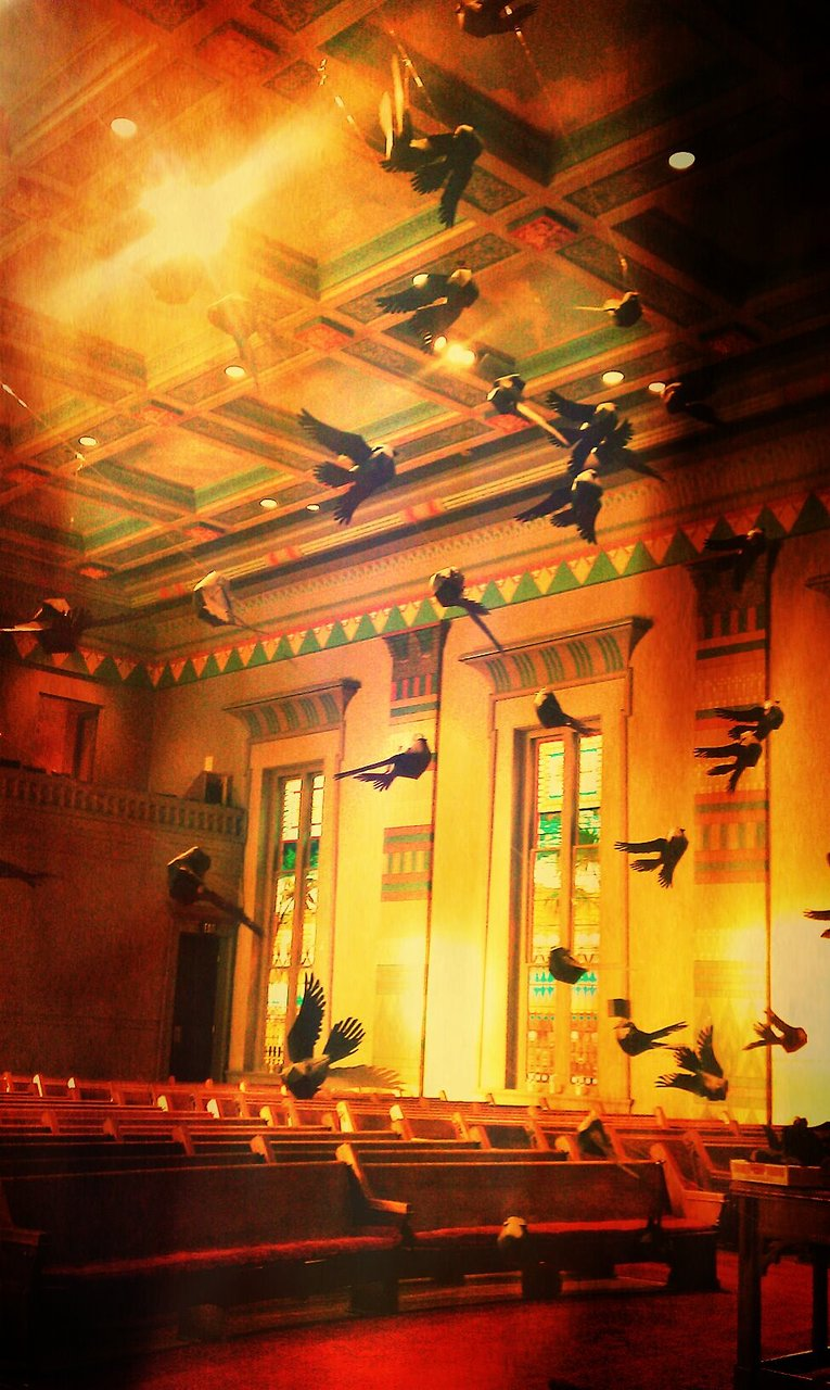 """Blackbirds"" installation"