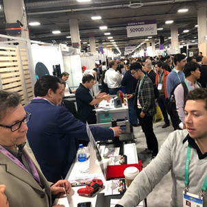 Intelashelf booth at CES 2020