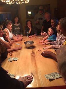 board game inside of cabin