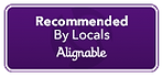 recommended by alignable logo