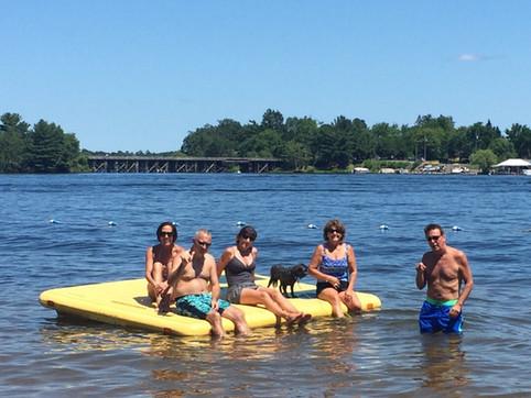 guests on lake scream best resort in wisconsin