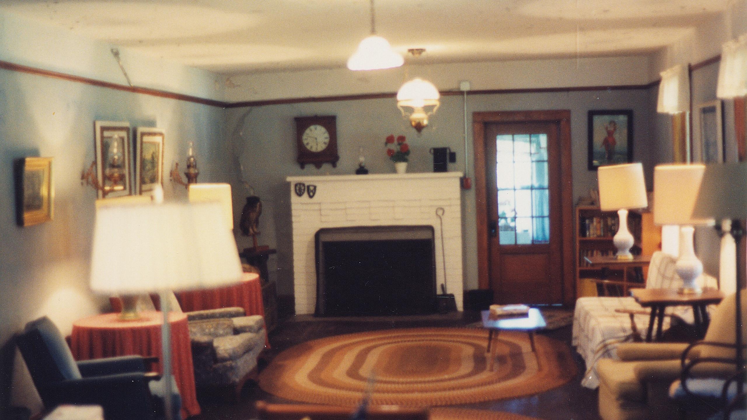 old resort living room