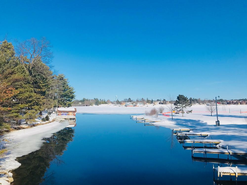 northern resort in winter
